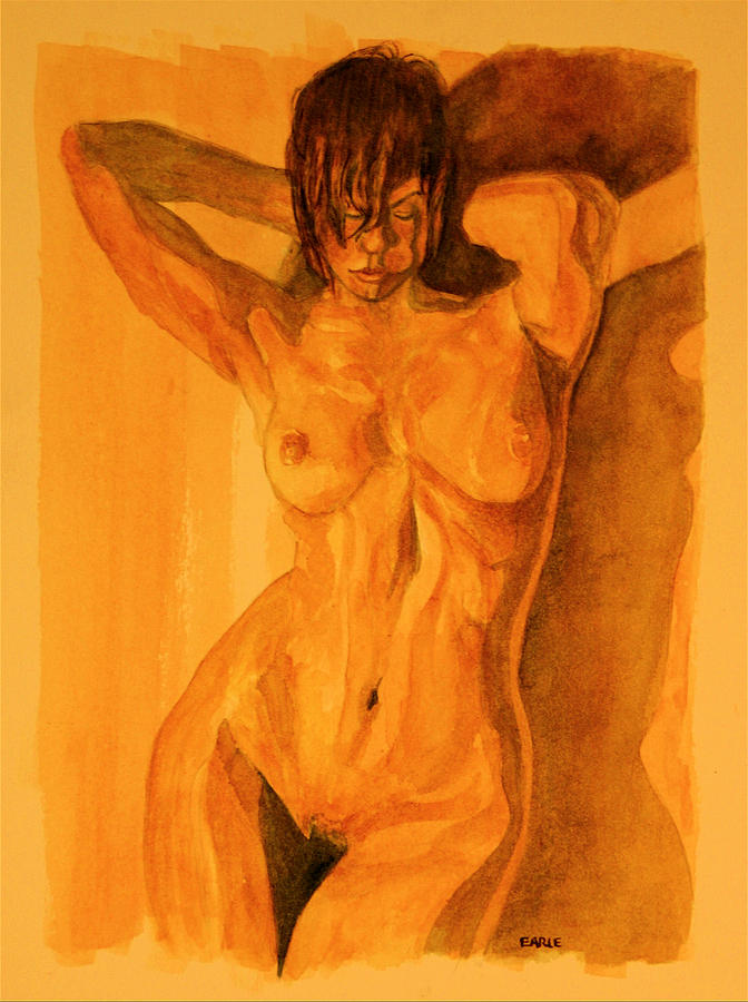 Female Nude Painting - Francesca by Dan Earle