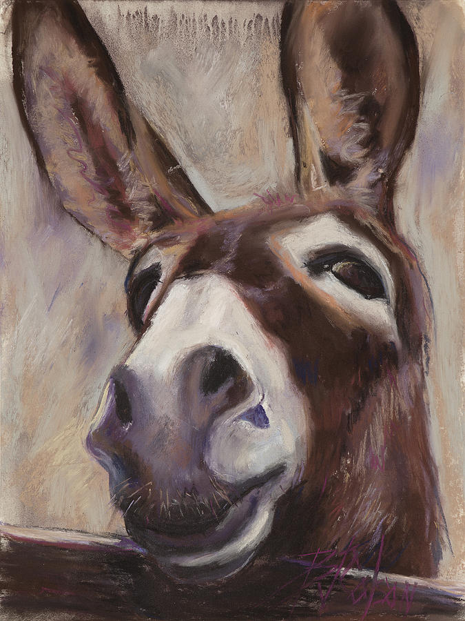 Mule Painting - Francis by Billie Colson
