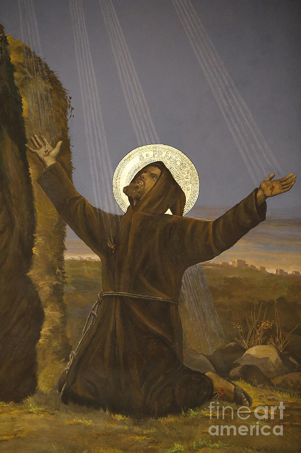 Knees Painting - Francis of Assisi receives the Stigmata by Italian School