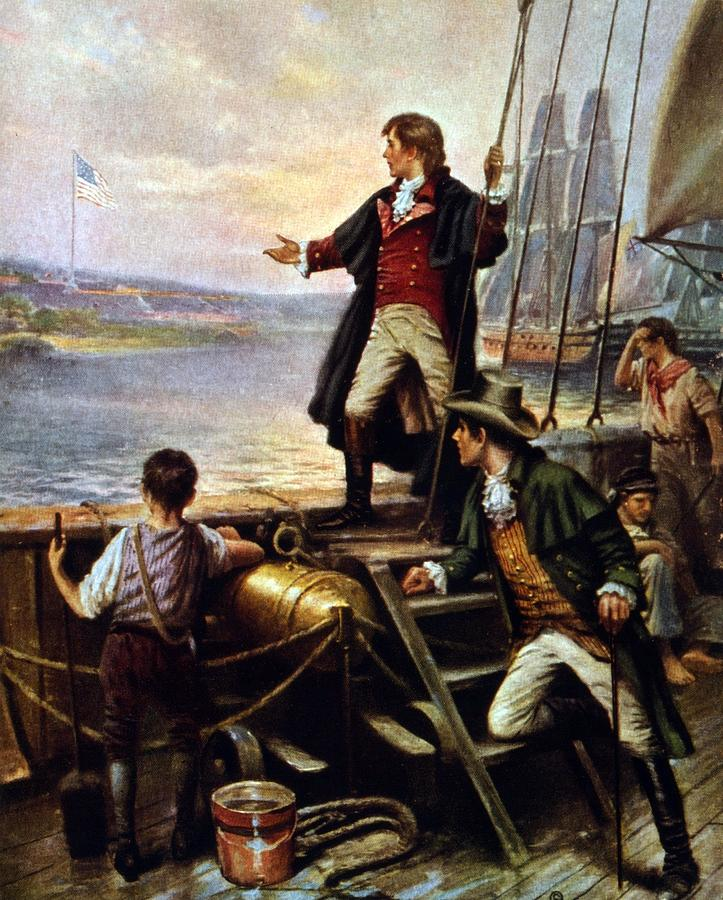Historical Photograph - Francis Scott Key, 1779-1843 Awakes by Everett