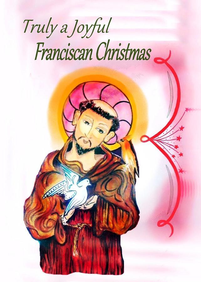 Greeting Card Painting - Franciscan Greeting Card by Myrna Migala