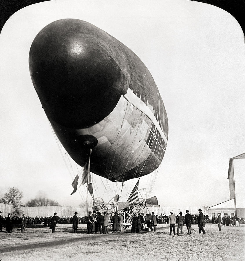 1904 Photograph - Francois Airship, 1904 by Granger