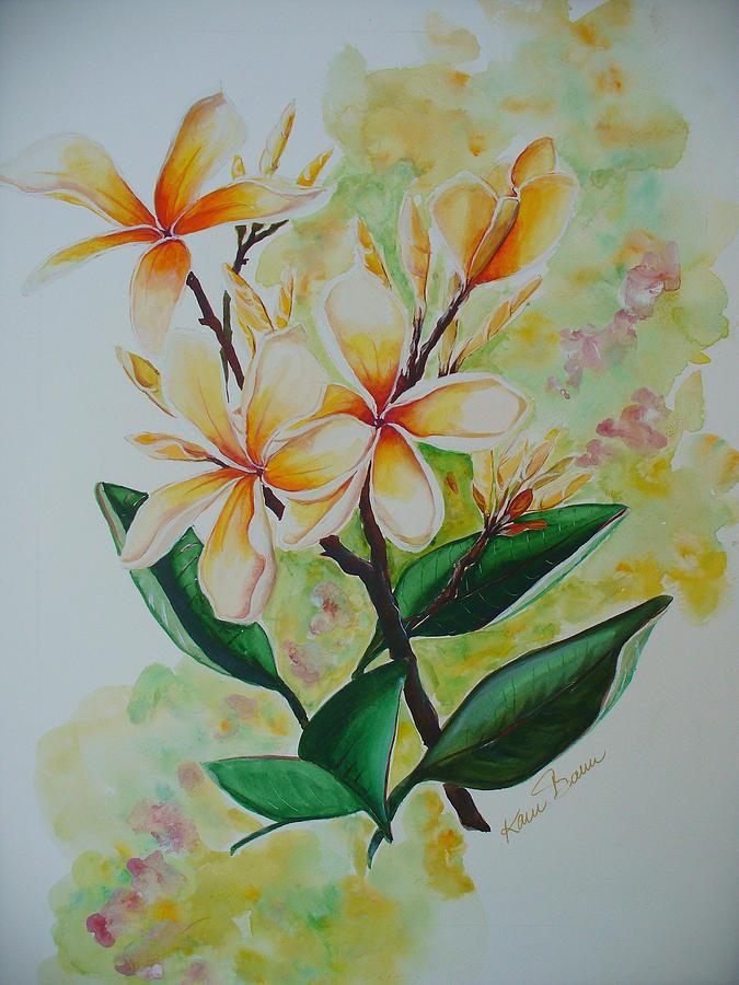 Frangipangi Painting by Karin  Dawn Kelshall- Best
