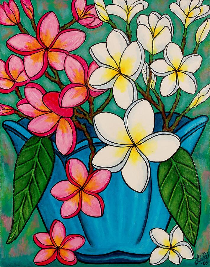 Frangipani Painting - Frangipani Sawadee by Lisa  Lorenz