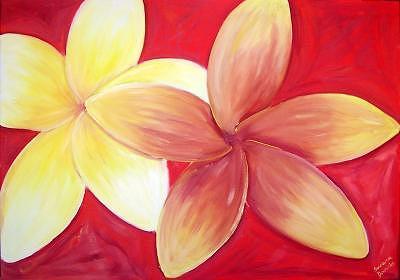 Frangipanis Painting by Suzana Dancks