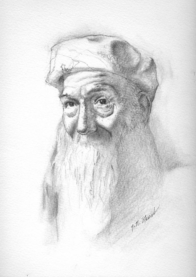 Pencil Drawing - Frank 2 by John Norman Stewart