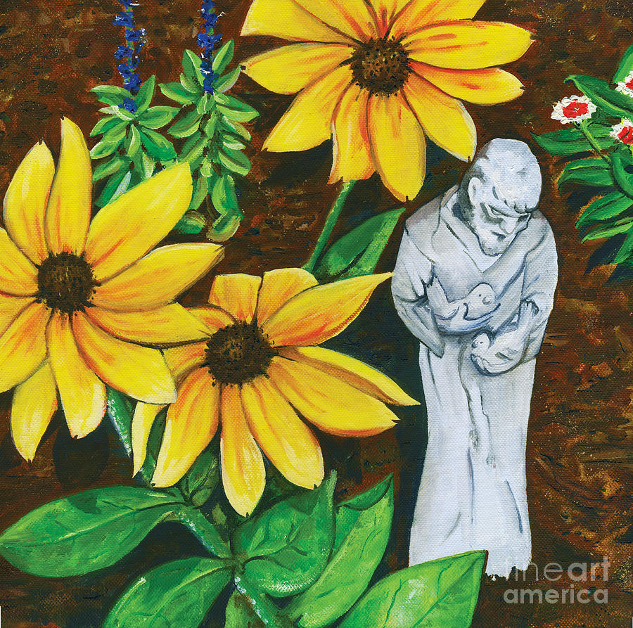 St. Francis Painting - Frank And Susan by Laura Brightwood