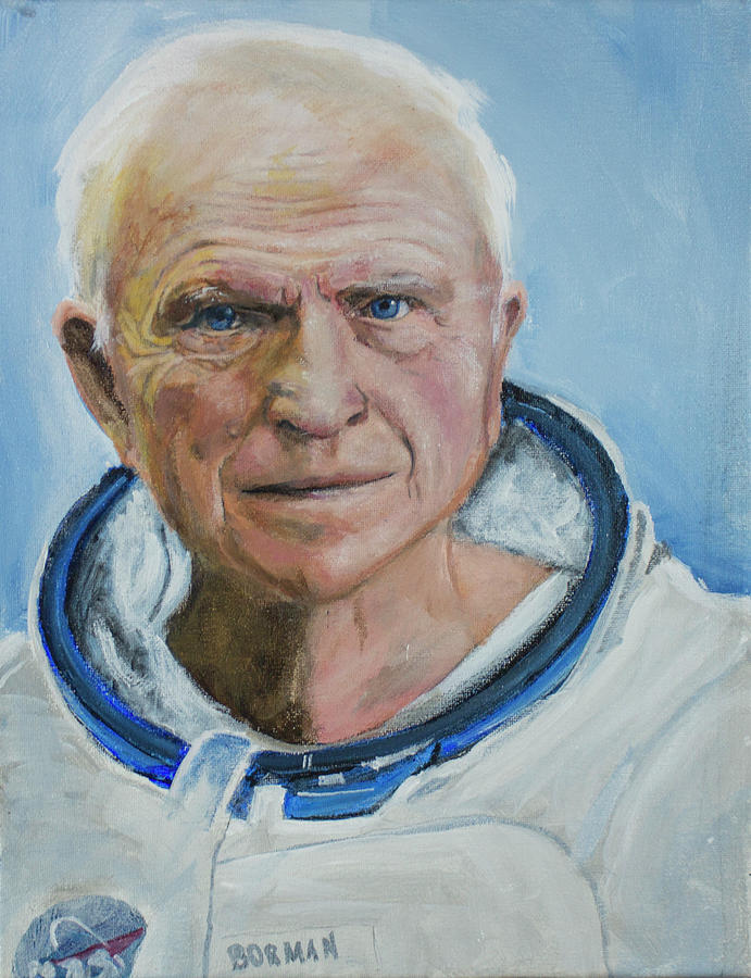Frank Borman Painting by Simon Kregar
