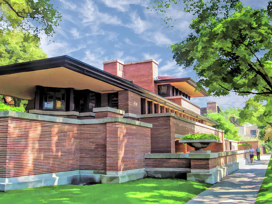 Frank Lloyd Wright Robie House Painting By Christopher Arndt
