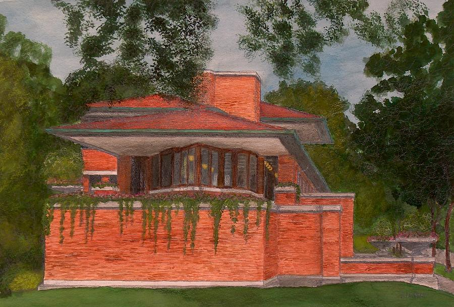 Frank Lloyd Wright Robie House Painting By Jacob Stempky
