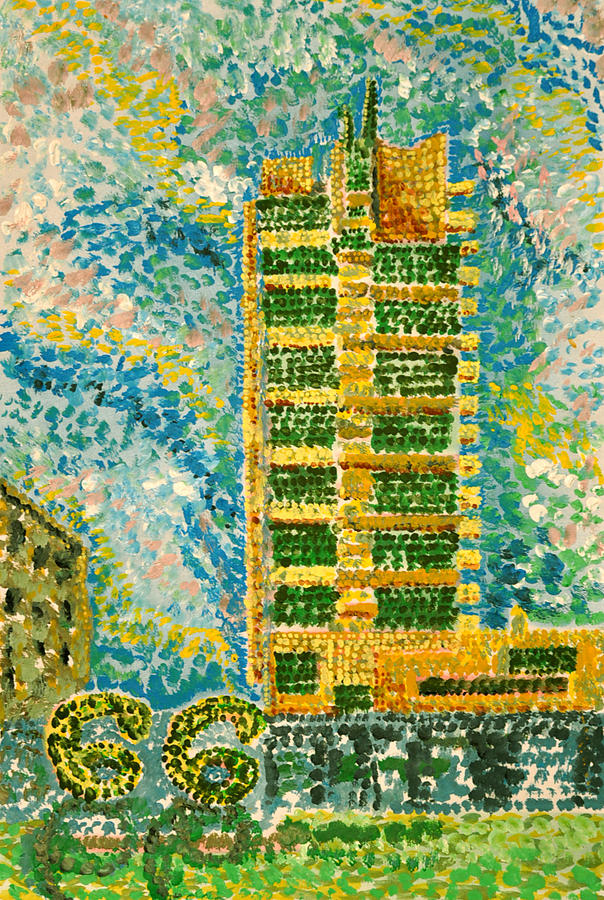 Price Tower Painting - Frank Loyd Wrights Price Tower by Ragon Steele