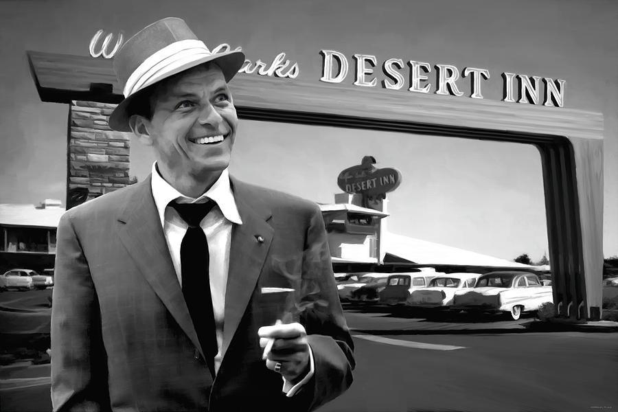 Frank Sinatra Digital Art - Frank Sinatra in Las Vegas by Gabriel T Toro