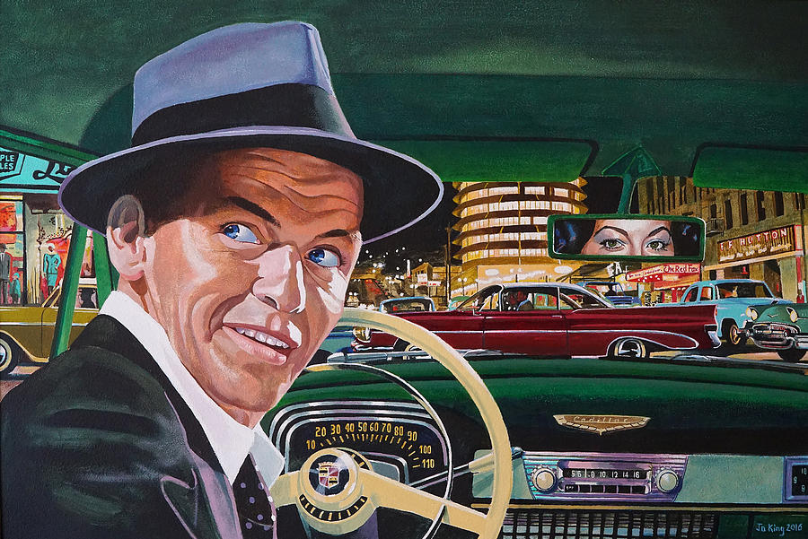 Celebrity Painting - Frank Sinatra - The Capitol Years by Jo King