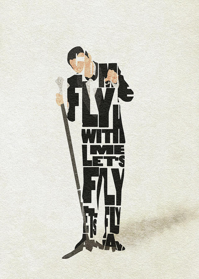 Frank Painting - Frank Sinatra Typography Art by Inspirowl Design