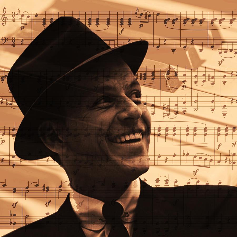 Frank Digital Art - Frank Sinatra  by Valentina Hramov