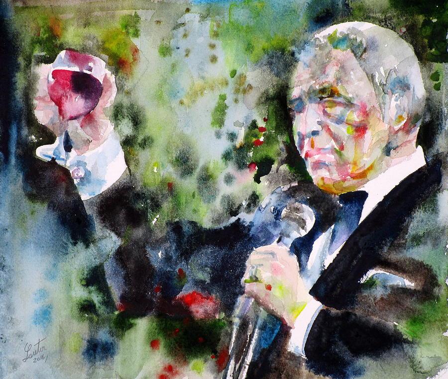 Frank Painting - Frank Sinatra - Watercolor Portrait.5 by Fabrizio Cassetta
