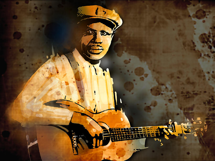 Blues Painting - Frank Stokes by Paul Sachtleben