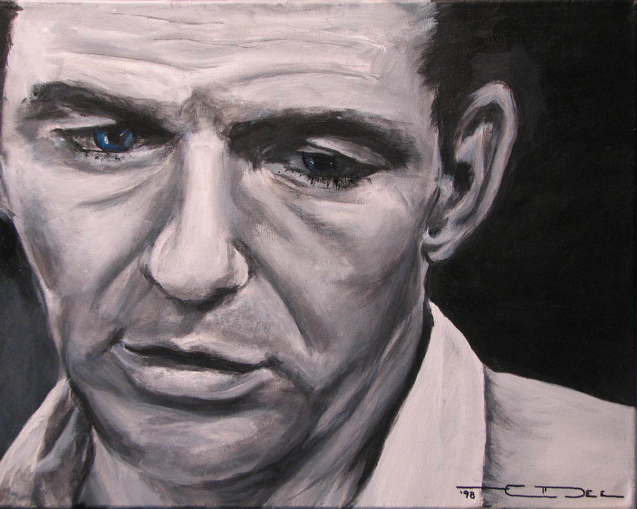Celebrity Portrait Painting - Frank With The Golden Arm by Eric Dee