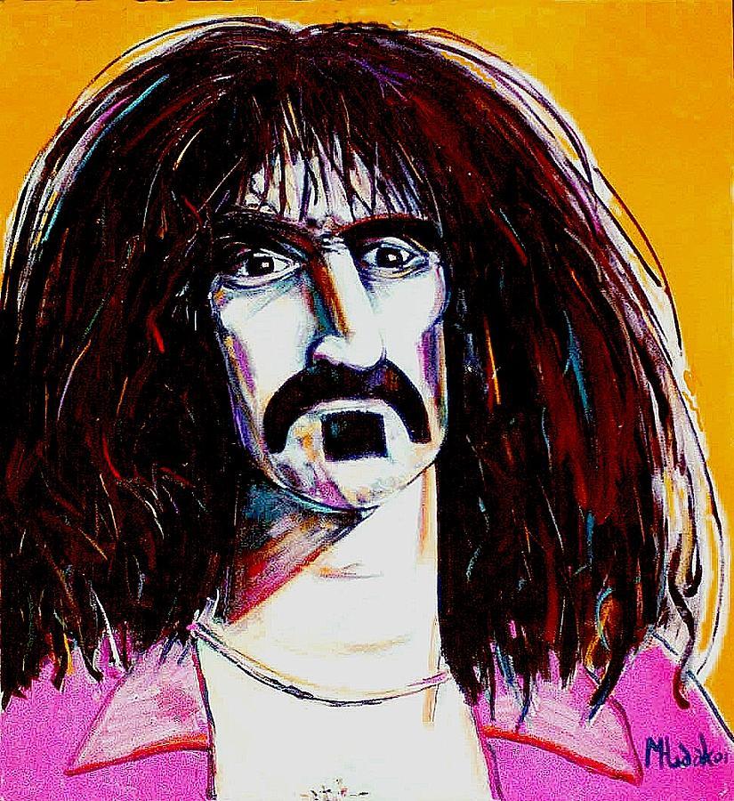 Portrait Painting - Frank Zappa by Michael Hudak