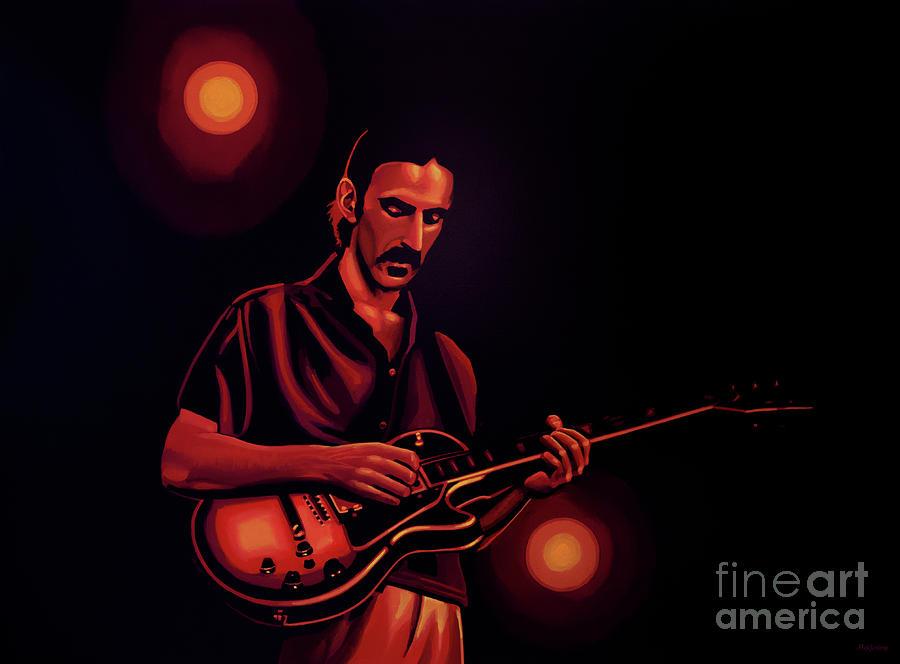 Frank Zappa Painting - Frank Zappa 2 by Paul Meijering