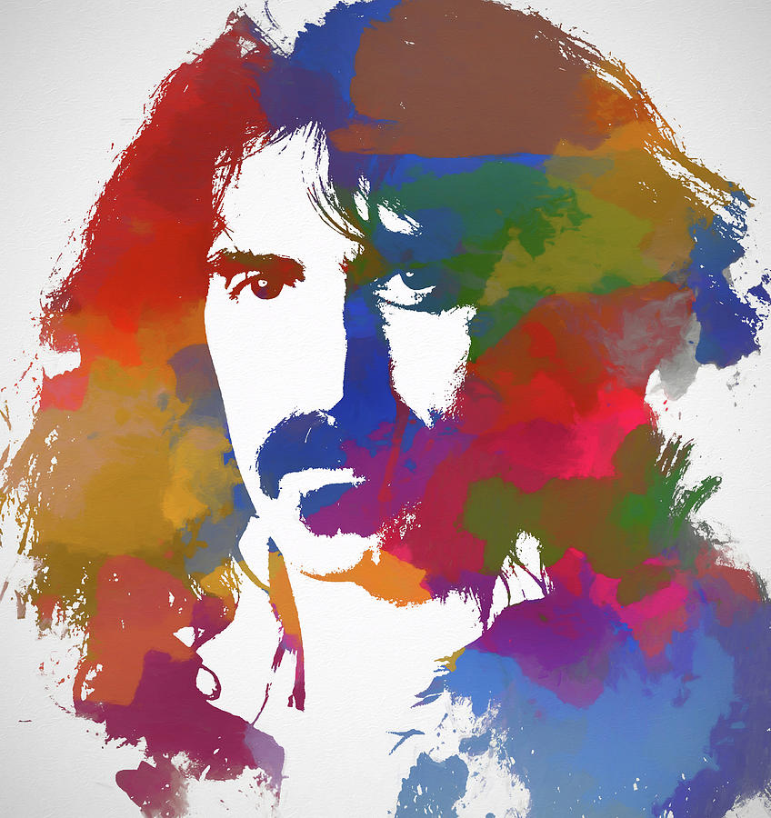 Frank Zappa Painting - Frank Zappa Watercolor by Dan Sproul