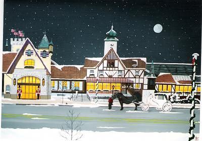 Frankenmuth Bavarian Inn Painting by David Ellis