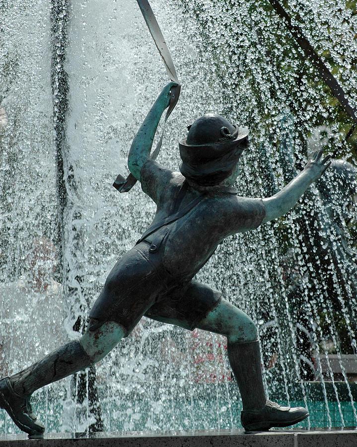 Usa Photograph - Frankenmuth Fountain Boy by LeeAnn McLaneGoetz McLaneGoetzStudioLLCcom