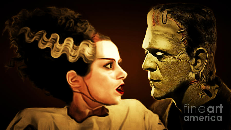 Wingsdomain Photograph - Frankenstein And The Bride I Have Love In Me The Likes Of Which You Can Scarcely Imagine 20170407 by Wingsdomain Art and Photography