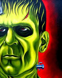 Frankenstein Painting Painting - Frankenstein by Durb Morrison