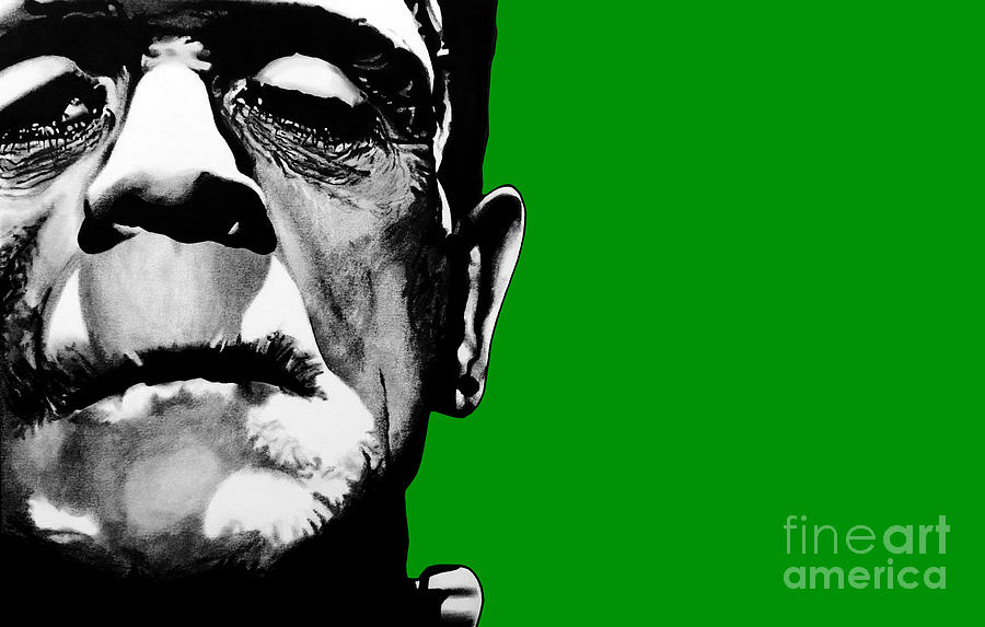 Frankenstein Drawing - Frankensteins Monster Signed Prints Available At Laartwork.com Coupon Code Kodak by Leon Jimenez