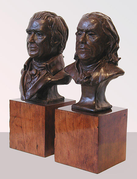 Ben Franklin Sculpture - Franklin And Marshall by John Gibbs