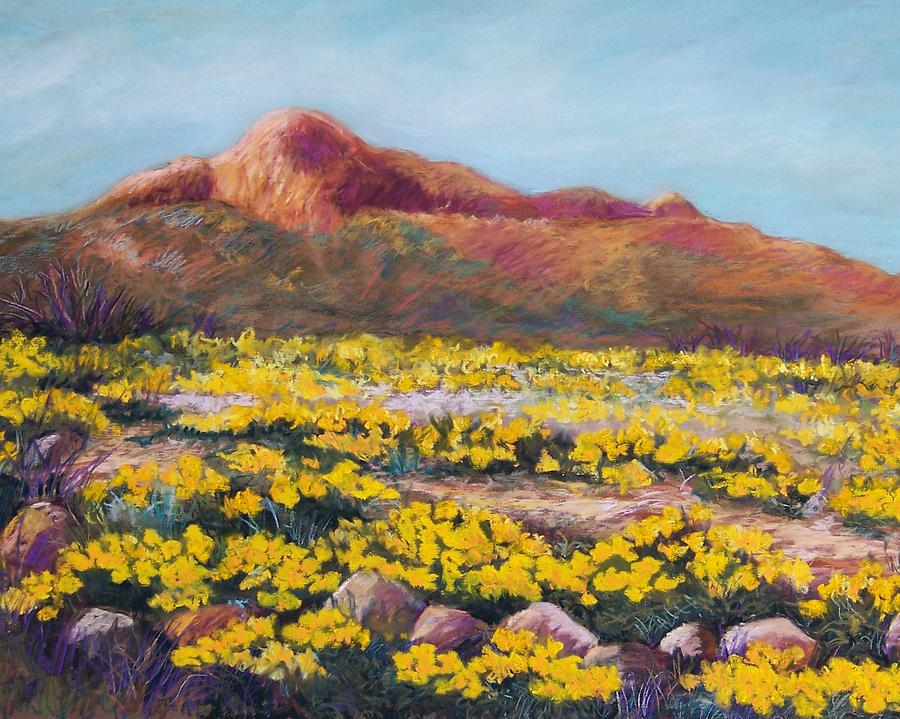 Landscape Pastel - Franklin Poppies by Candy Mayer
