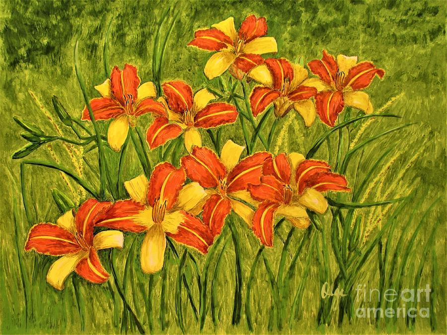 Frans Hals Daylilies by Olga Silverman