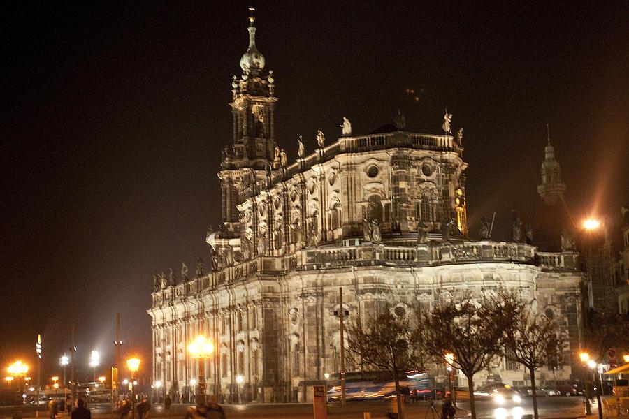 Frauenkirche Photograph - FrauenkirchNite2160 by Charles  Ridgway
