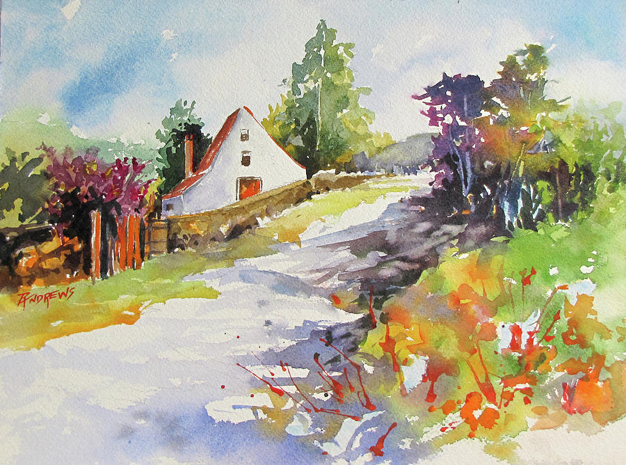 Landscape Painting - Frayssinet Beauty by Rae Andrews