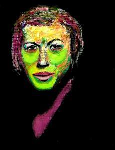 Portriat Painting - Frazenine by Steven Polatnick