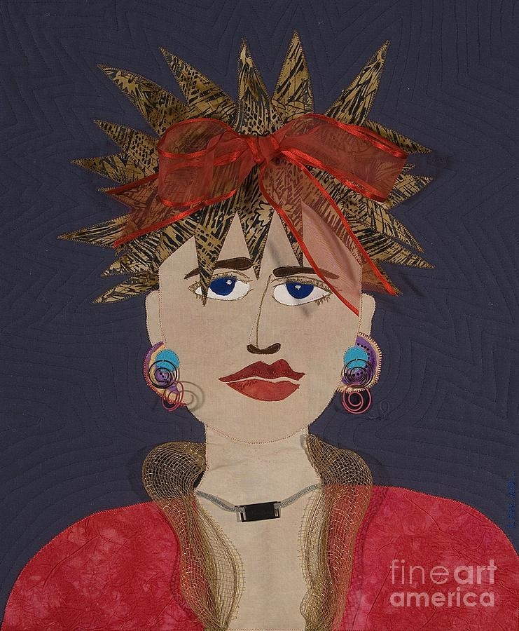 Women Tapestry - Textile - Frazzled by Carol Ann Waugh