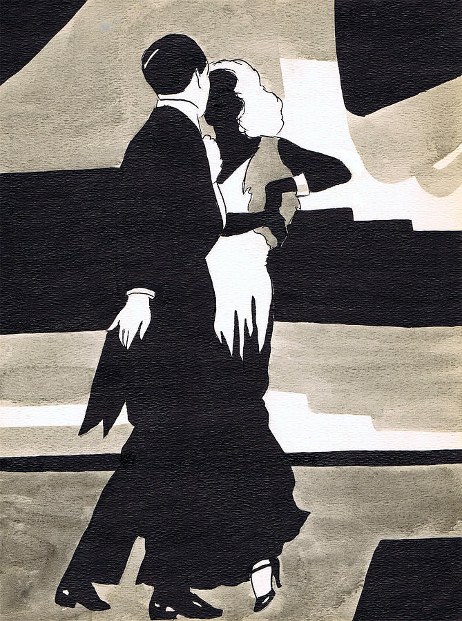 Nostalgia Drawing - Fred And Ginger by Mel Thompson