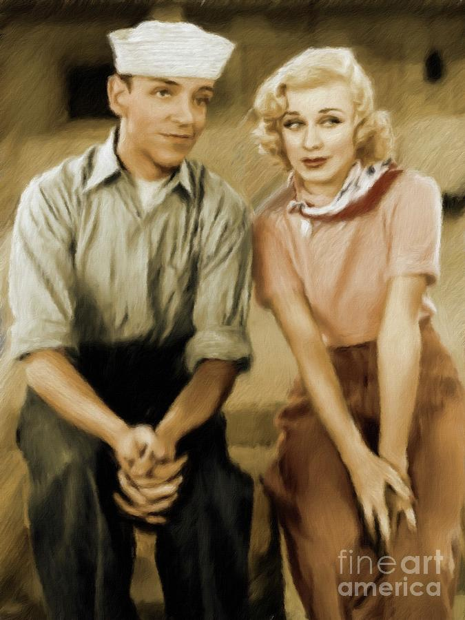 Fred Astaire And Ginger Rogers Painting By Esoterica Art Agency