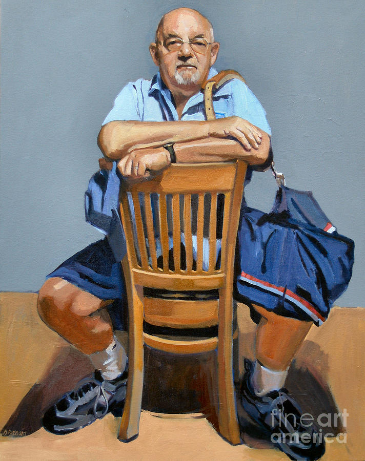 Portrait Painting - Fred by Deb Putnam