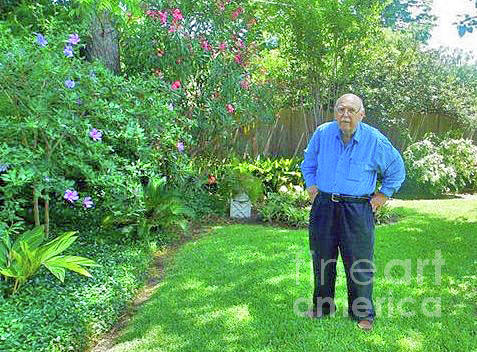 Happy Garden Photograph - Fred In His Garden. 2013. by Fred Jinkins