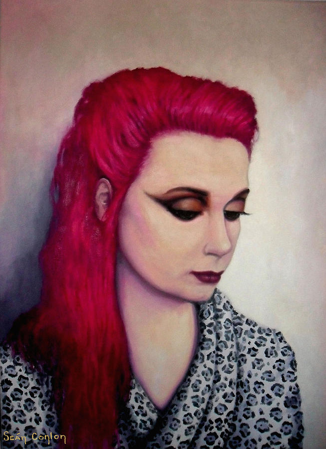 Portrait Painting - Freda by Sean Conlon