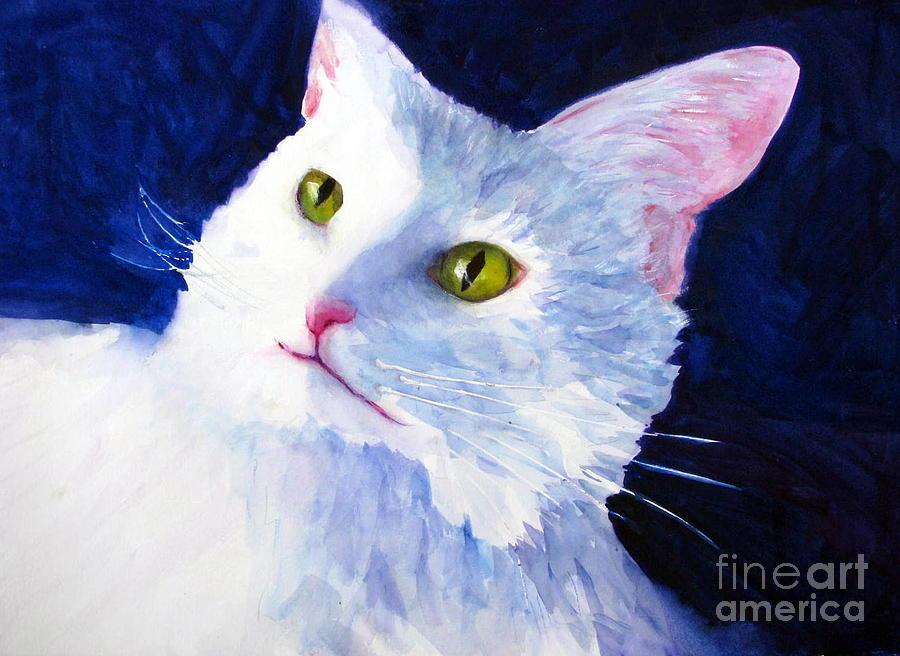 Cat Painting - Freddie Francis by Rhonda Hancock