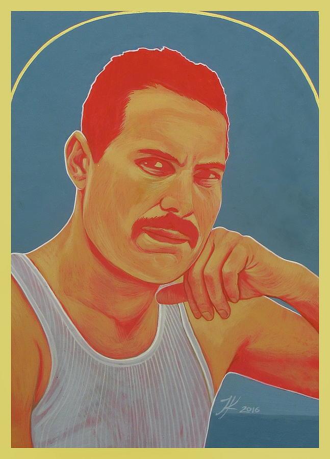 Freddie Mercury Painting - Freddie Mercury by Jovana Kolic