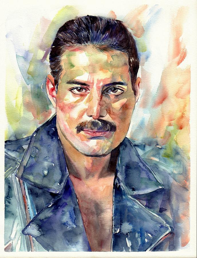 a535310cb721c Freddie Mercury Portrait Painting by Suzann s Art