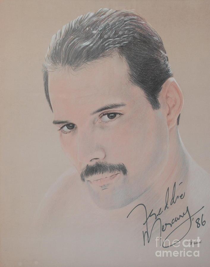 Freddie Mercury Signed  Drawing by John Sterling