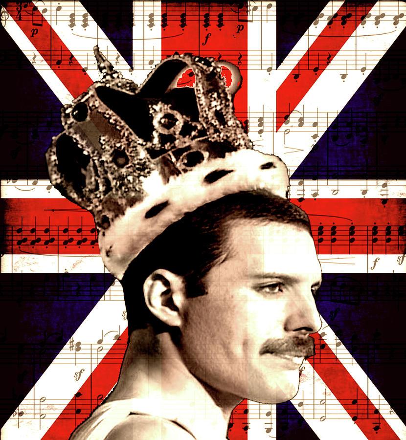 Freddie Mercury Digital Art - Freddie Mercury by Valentina Hramov