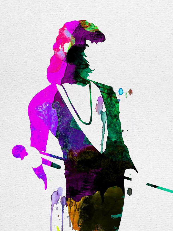 Freddie Mercury Painting - Freddie Watercolor by Naxart Studio