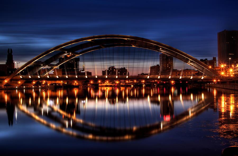 Bridge Photograph - Freddy Sue Bridge Over The Genesee by Don Nieman