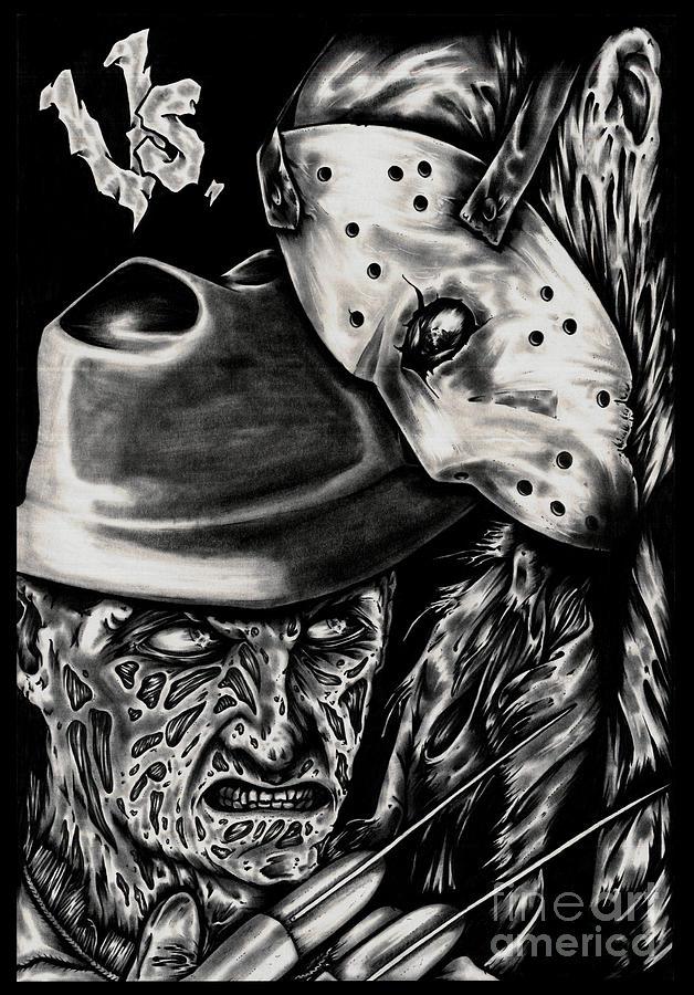 Freddy Vs Jason Painting By N Emesis